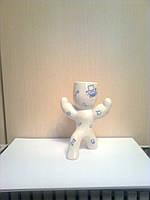 Экочеловечек Атлет из фарфора, компьютерная коллекция, подарок программисту