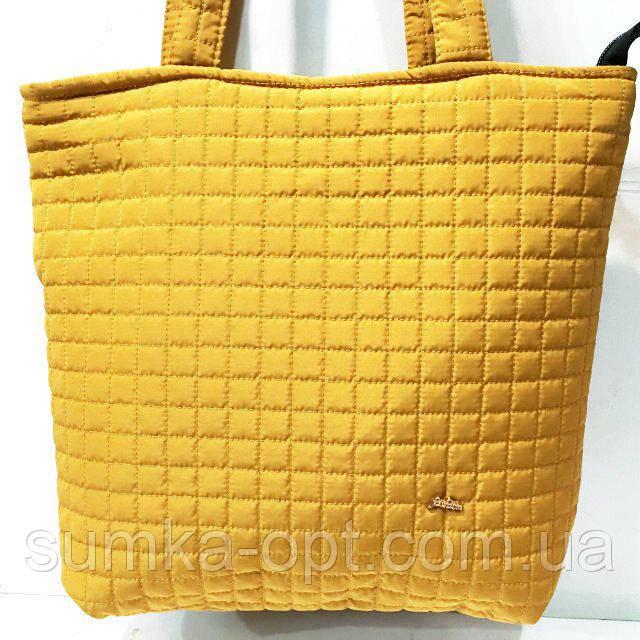 Женские стеганные сумки дешево опт (горчица)31*34