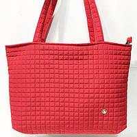 Женские стеганные сумки дешево опт (красный)31*48, фото 1