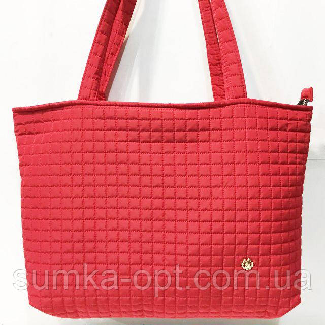Женские стеганные сумки дешево опт (красный)31*48