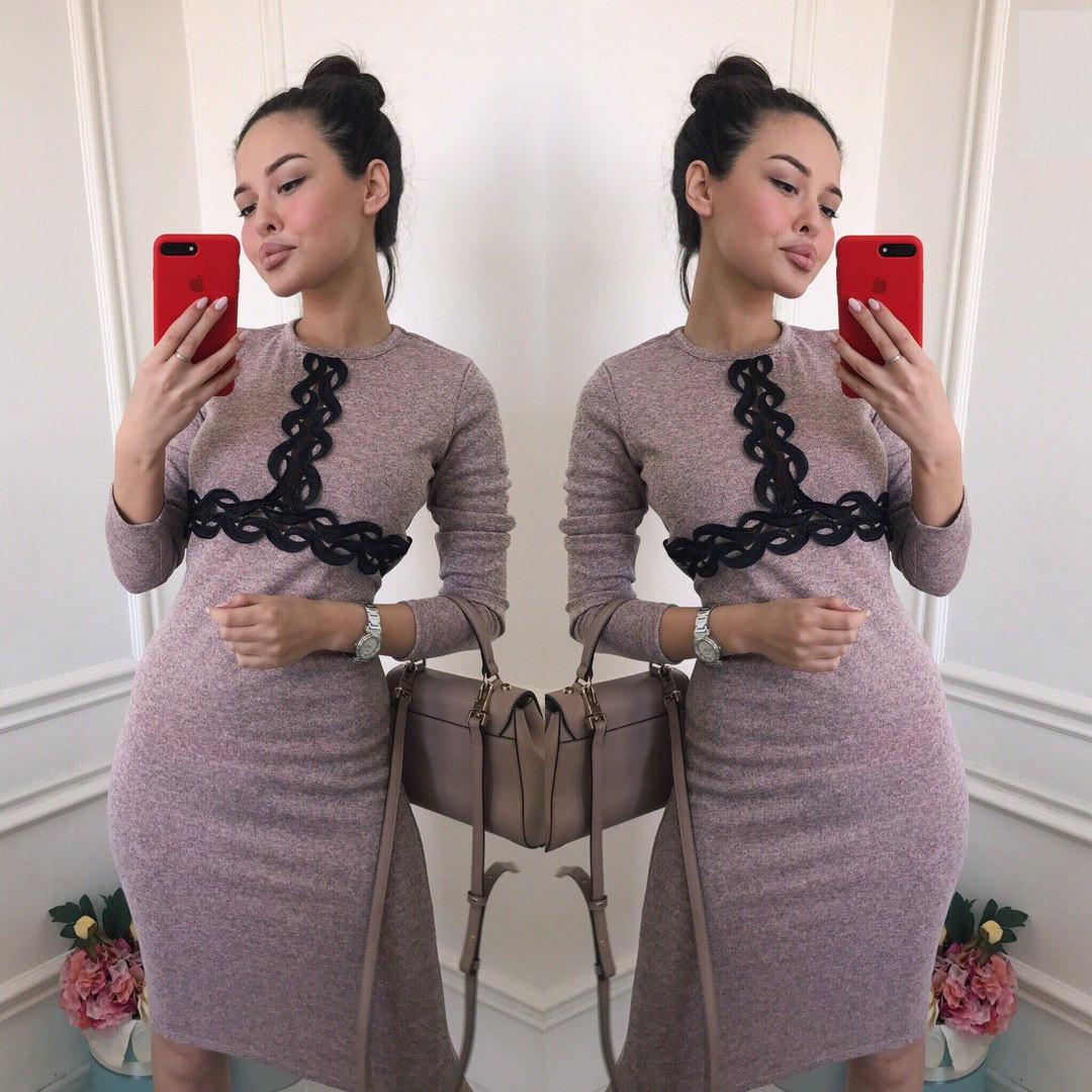 Женское стильное платье ангора