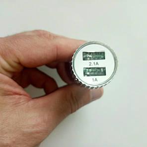 Зарядка USB в прикуриватель на два выхода, автомобильная зарядка usb, фото 2