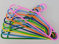 """Плечики вешалки пластмассовые """"зима"""" разные цвета, 41 см, 10 штук в упаковке одного цвета"""