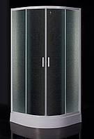 "TISZA  душевая кабина 90*90*185 см, профиль белый, стекло ""Zuzmara"" (стекла+двери)"