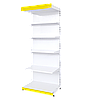 Торговый металлический стеллаж односторонний 2350х750х500