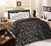Altinbasak Elis Siyah постельное белье сатин семейное 160х220х2