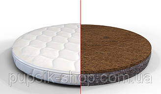 Матрас на кроватку IngVart BAGGYBED Round кокос+флексовойлок  72*72 см