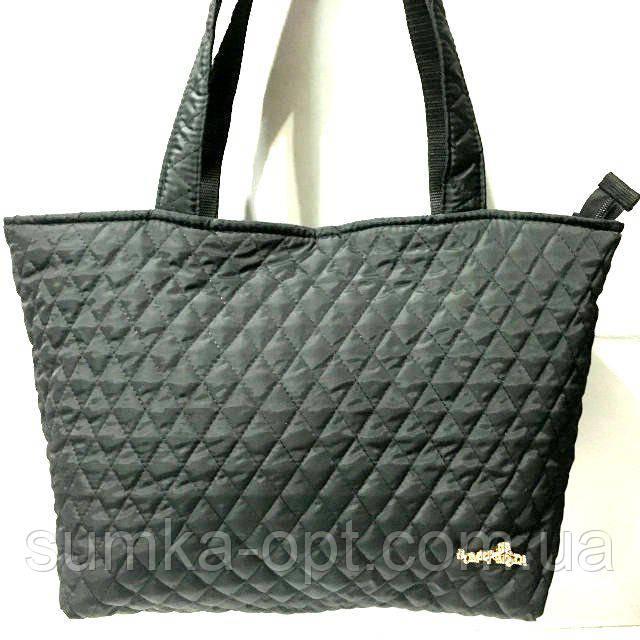 Женские стеганные сумки дешево опт (черный)30*46