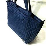 Женские стеганные сумки дешево опт (черный)30*46, фото 2
