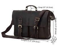 Мужской классический  портфель Tiding Bag из лошадиной кожи