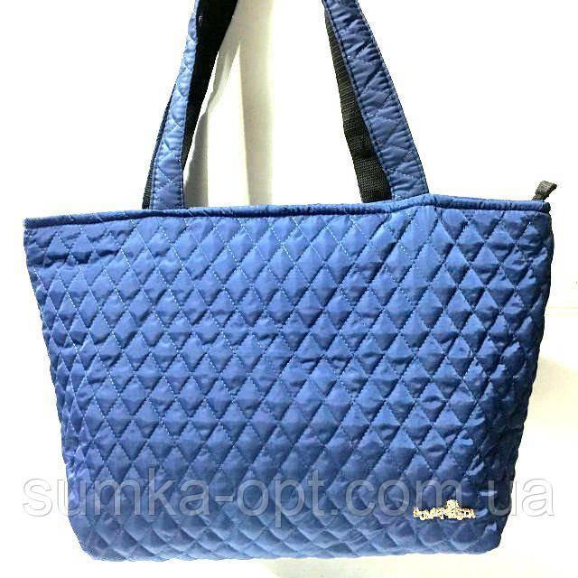 Женские стеганные сумки дешево опт (синий)30*46