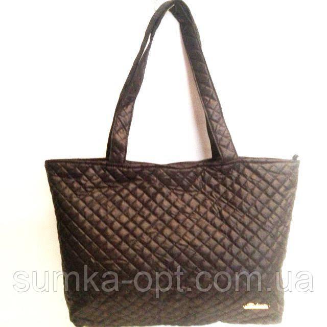Женские стеганные сумки дешево опт (каштан)30*46