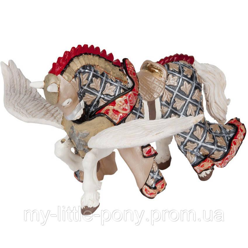 Конь воина с гербом пегаса (12,5 см) Papo