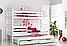 Кровать двухъярусная из массива бука Джосси с дополнительным спальным местом, фото 2
