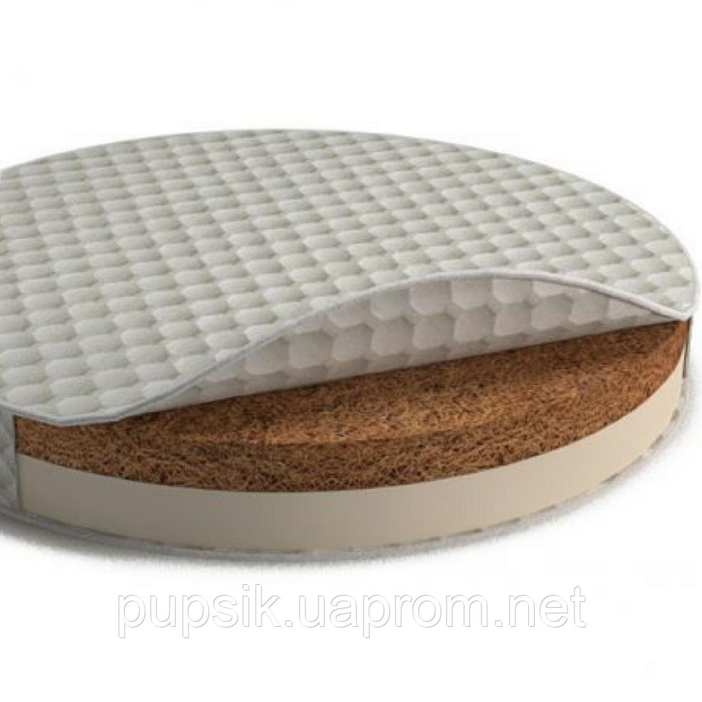 Матрас на кроватку IngVart SMARTBED ROUND кокос+латекс  72*72 см