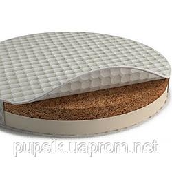 Матрас на кроватку IngVart BAGGYBED Round кокос+латекс  72*72 см