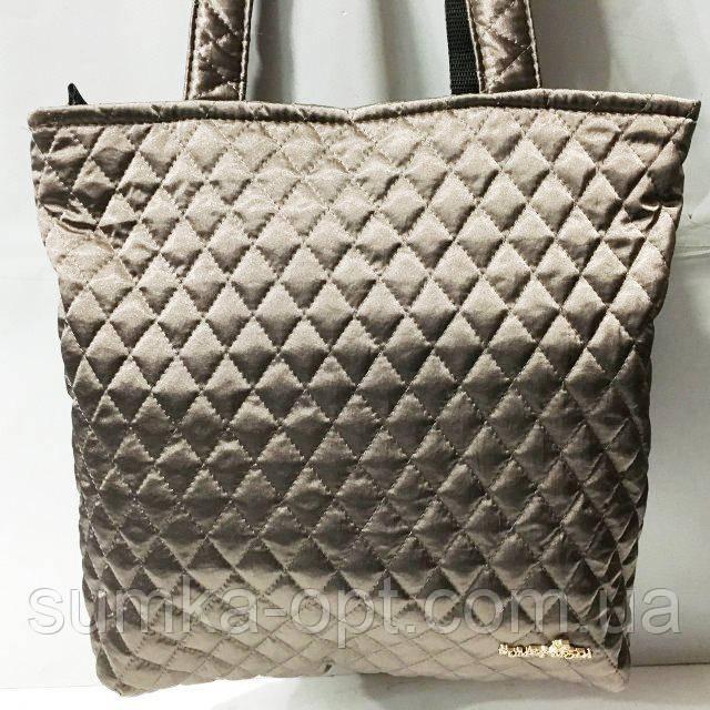 Женские стеганные сумки дешево опт (бронза)29*32