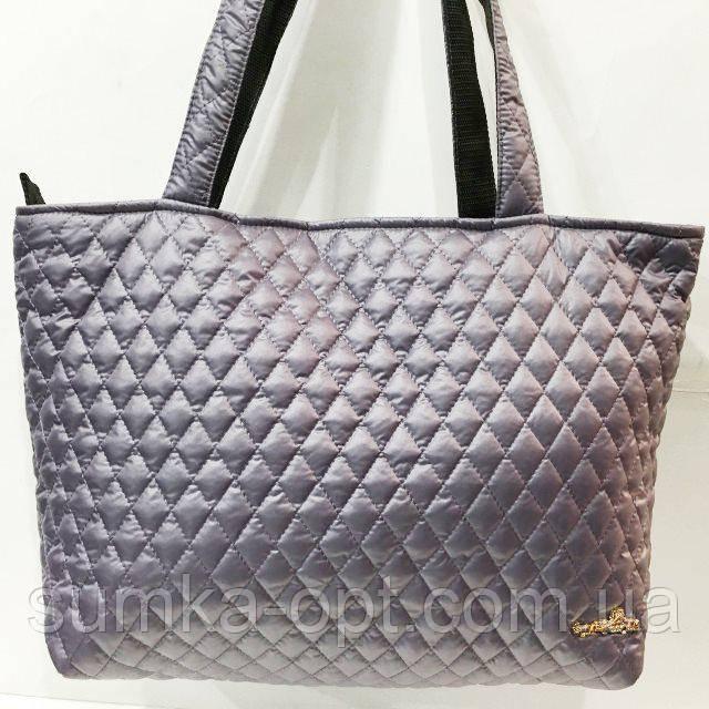Женские стеганные сумки дешево опт (серый)30*46
