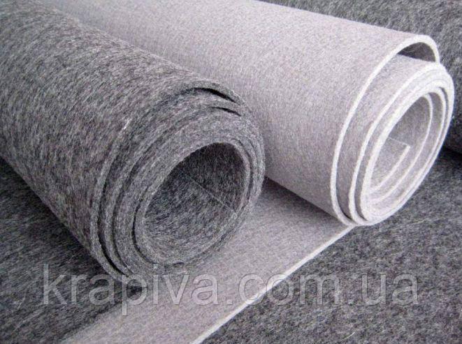 Войлок серый, стелечное полотно, войлок мебельный