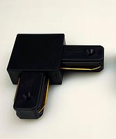 Коннектор угловой для шинопровода однофазного черный LD1001 Feron