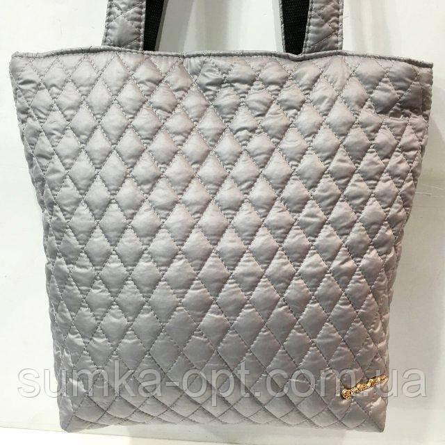 Женские стеганные сумки дешево опт (серый)29*32