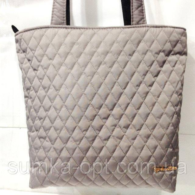 Женские стеганные сумки дешево опт (кофе)29*32