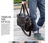 Городская сумка. Мужская кожаная сумка. Дорожная сумка. Сумки из кожи. Удобная сумка. Код:КСГ1