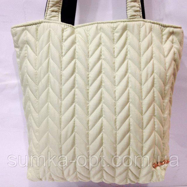 Женские стеганные сумки дешево опт (молочный)29*32