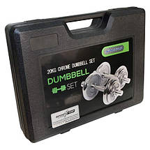 Домашний гантельный набор FitLogic Home Dumbbell Chrome Set Box 20kg, фото 3