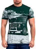 Чоловіча літня  футболка  з  принтом
