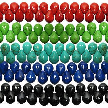 Бусины Капли Средние Глазурованные. Код 6335