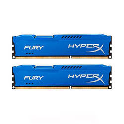 Оперативна пам'ять Kingston HyperX FURY DDR3 1600 4GBx2 Blue