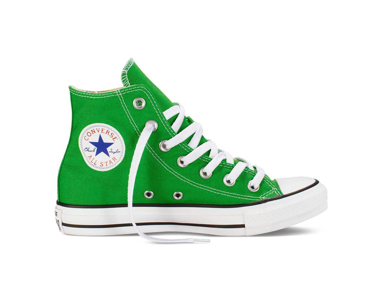 Кеды Converse All Star High Green в зеленом цвете