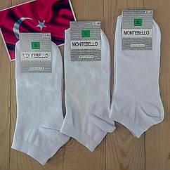 Носки женские ароматизированные MONTEBELLO exclusive Турция  100% бамбук 36-40р белые  НЖД-02973