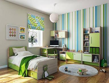 Детская комната Акварели зеленые