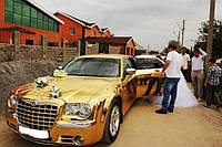 Аренда золотого Крайслера 300С, фото 1