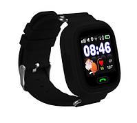 Детские часы-телефон с GPS WONLEX Q90S Black