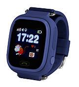 Детские умные часы-телефон с GPS трекером Smart Watch Q90 Тёмно синие