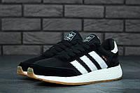 Мужские кроссовки Adidas Iniki (black) (реплика), фото 1