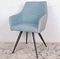 Обеденный стул с подлокотниками MAYA цвет серо-голубой, Nicolas