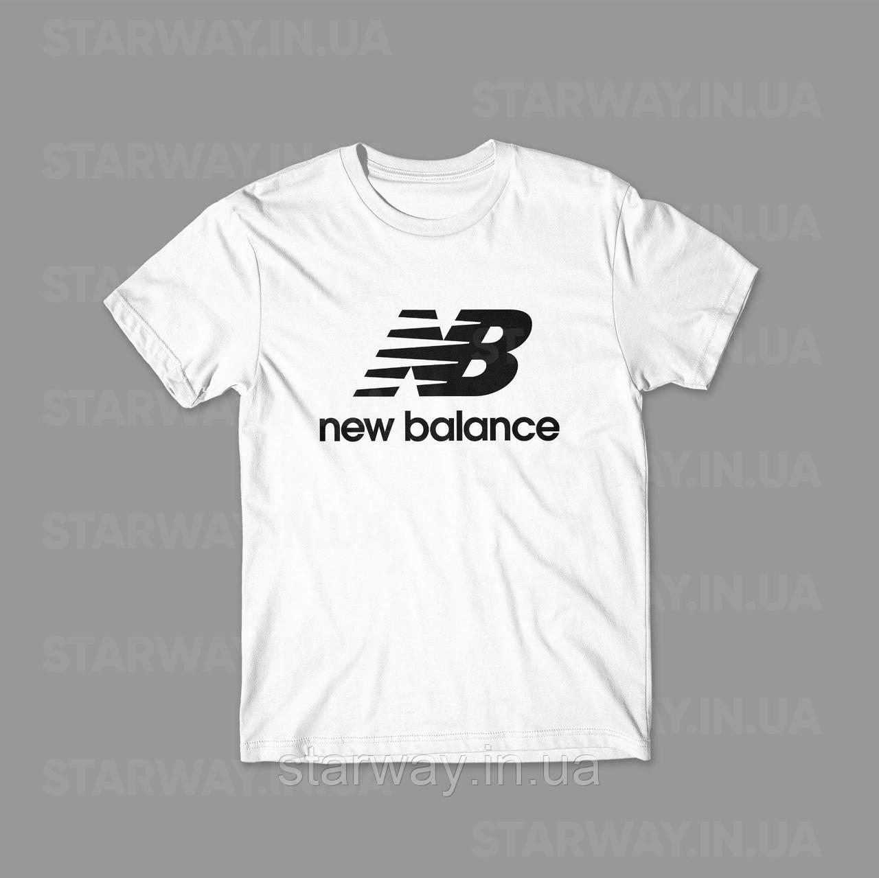 Футболка стильная New Balance лого топ