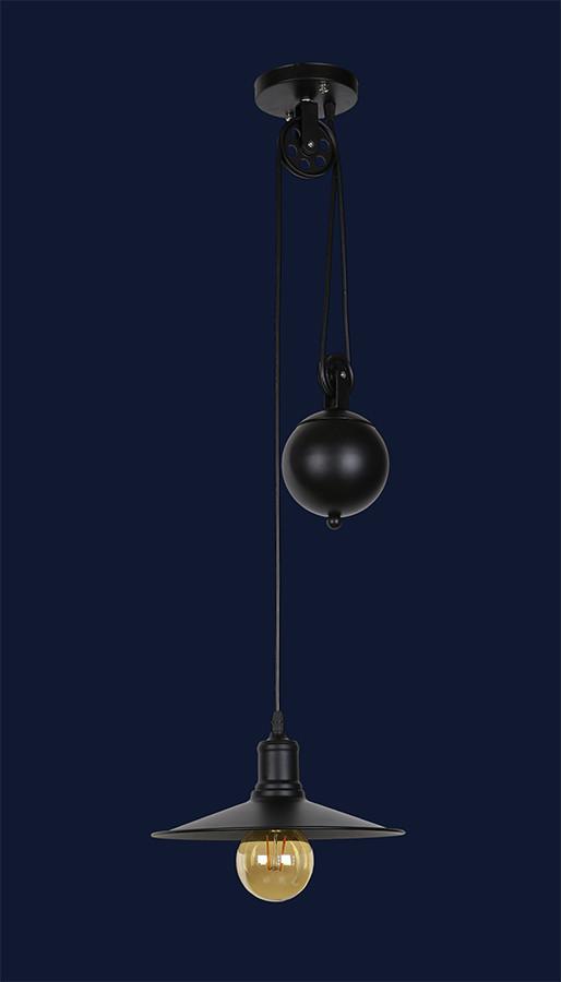Люстра подвес с противовесом гирей 7079204-1 BK