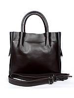 """Женская кожаная сумка """"Olivia"""" темно-коричневая"""