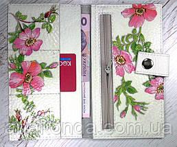 301 Натуральная кожа, Комплект: сумка кросс-боди+кошелек, белый, комбинированный, фото 3