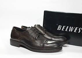Шикарные кожаные мужские туфли Belwest, Оригинал