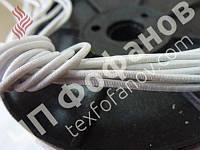 Текстильная круглая резинка 1,5 мм белая