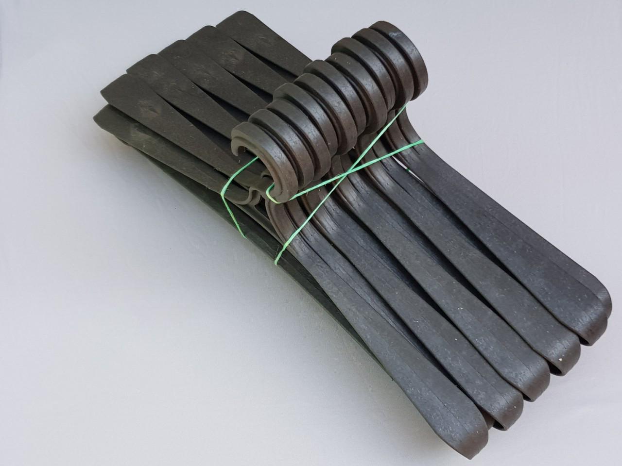Длина 41 см. Плечики пластмассовые Гем-3 черные, 10 штук в упаковке