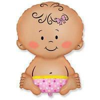 Шар малыш девочка 47х70 см с гелием