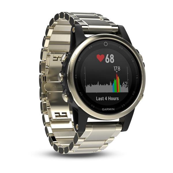 Смарт часы для спорта Garmin Fenix 5S Sapphire - Champagne with metal band  - Интернет магазин b298ff362ad7b