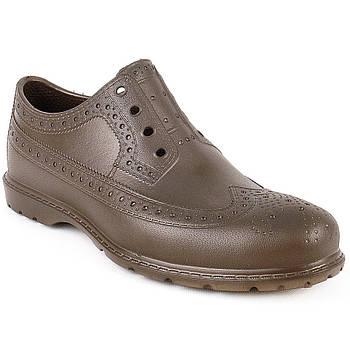 Туфли-Оксфорды из Эва, р. 40, 41, 42, 43. Коричневые непромокаемые туфли из пены ЭВА